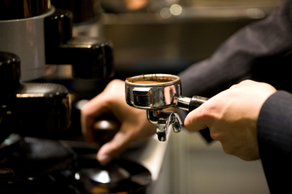 Barista Using A Tamper